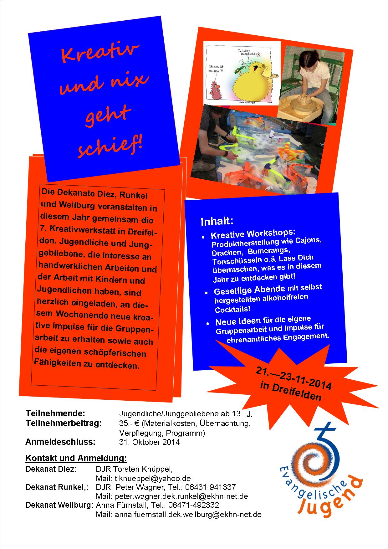 Flyer Kreativwerkstatt 2014